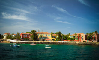 View,To,Historic,City,At,The,Goree,Island,In,Dakar,