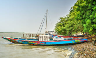 African,Boat,On,The,River,Bank,,Ziguinchor,,Senegal